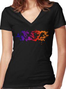 Gradient TMNT Women's Fitted V-Neck T-Shirt