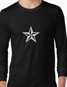 Nautical Star (white print) Long Sleeve T-Shirt