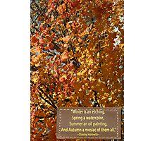 Autumn Notes Photographic Print