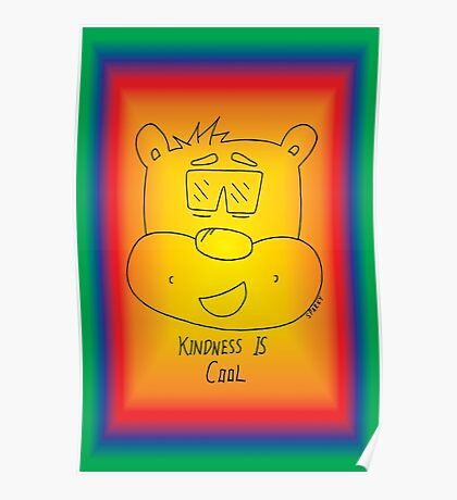Kindness Is Cool Card - Rainbow Poster