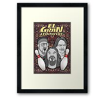 the big lebowski spanish collage Framed Print