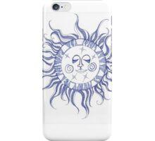Blue Sun Face Swirl iPhone Case/Skin