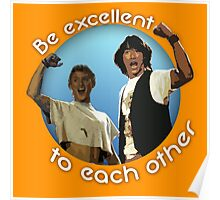 Bill and Ted's Excellent T-Shirt Poster