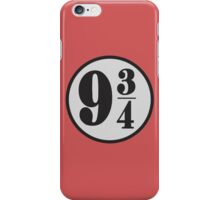 9 3/4 iPhone Case/Skin