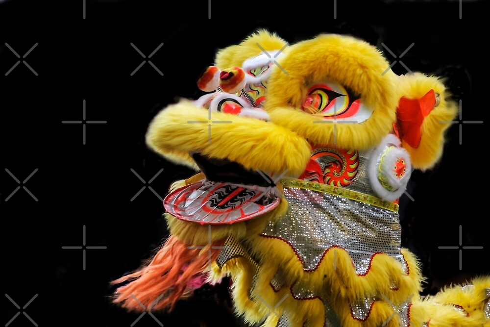 Chinese Lion Dancing by Heather Friedman