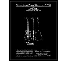 Guitar Patent - Black Photographic Print