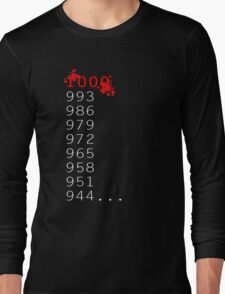 """What's 1000 Minus 7?"" Long Sleeve T-Shirt"