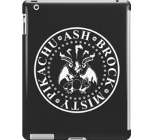 gotta catch 'em all (white logo) iPad Case/Skin
