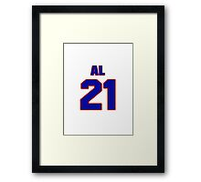 National Hockey player Al McDonough jersey 21 Framed Print