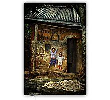 Uganda: Porch Boys Photographic Print