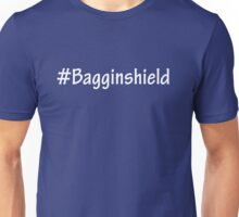 #Bagginshield White Unisex T-Shirt
