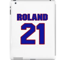 National Hockey player Roland Cloutier jersey 21 iPad Case/Skin