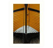 Yellow fishing boat Art Print