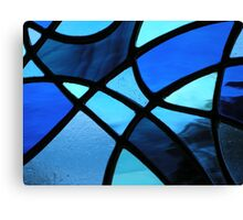 """Abstract Love Heart """"Blues"""" (Close up) Canvas Print"""