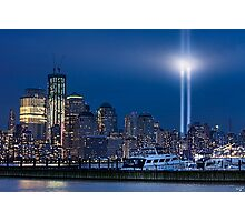 9/11 Tribute Lights and the Freedom Tower Photographic Print
