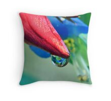 Waterdrop Reflection Throw Pillow