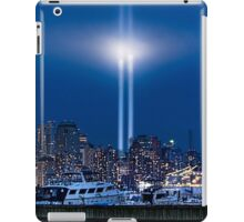 9/11 Tribute Lights and the Freedom Tower iPad Case/Skin