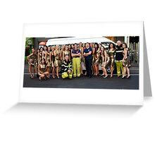 Carlton Fire Brigade meet Finalists of Miss Italia-Australia Greeting Card