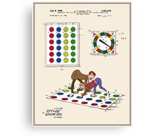 Twister Patent - Color  Canvas Print