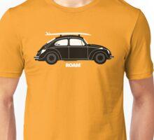 ROAM VW Bug with Surf Board Unisex T-Shirt
