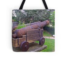 Rusty cannon Tote Bag