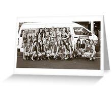 Europcar Miss Italia-Australia Finalists 2008 Greeting Card