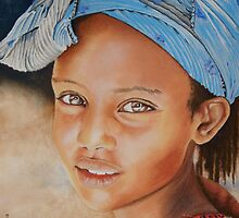 The Eritrean girl by Colombe  Cambourne