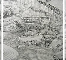 Zen Garden Composition- preliminary sketch by Christopher Ripley
