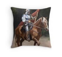 Knight of the Joust Throw Pillow