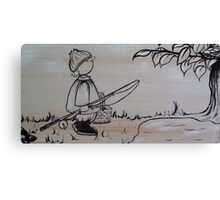 Reuben Goes Fishing Canvas Print
