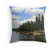 Knoll Lake on a Saturday Throw Pillow