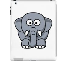 Elephant Vector Cartoon iPad Case/Skin