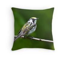 Chestnut-sided Warbler 2 Throw Pillow