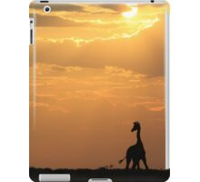 Giraffe Sunset - African Wildlife - Silhouette Pair iPad Case/Skin