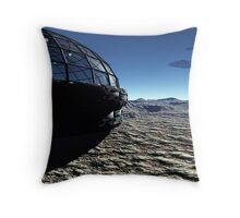 Spaceport Throw Pillow