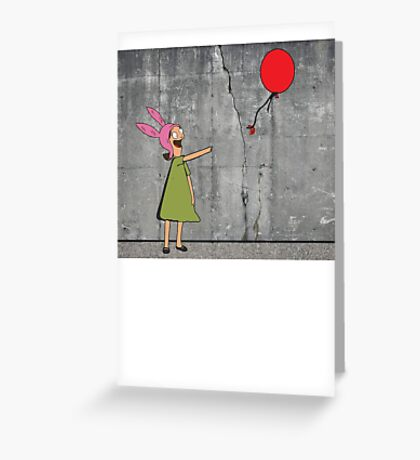 Banksy's Burgers Greeting Card
