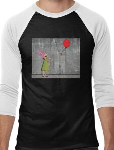 Banksy's Burgers Men's Baseball ¾ T-Shirt