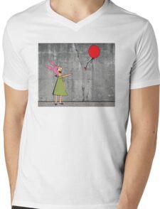 Banksy's Burgers Mens V-Neck T-Shirt