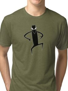 Monster doin' the pee-pee dance Tri-blend T-Shirt