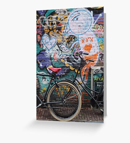 Amsterdam - Wall and wheels Greeting Card