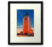 The village church of Neufelden IV | architectural photography Framed Print
