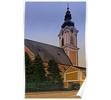 The village church of Scharten II   architectural photography Poster