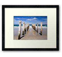 Straight down the middle at St Clair Beach, Dunedin Framed Print