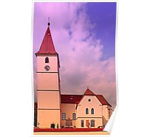 The village church of Kleinzell II   architectural photography Poster
