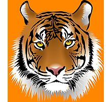 Tiger Face Vector illustration Photographic Print