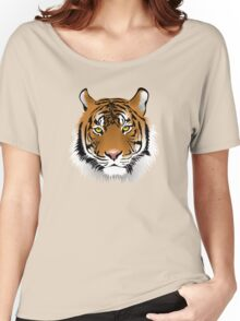 Tiger Face Vector illustration Women's Relaxed Fit T-Shirt