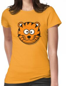 Cute Tiger Face illustration Womens Fitted T-Shirt