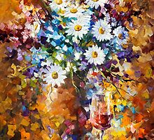 White Flowers — Buy Now Link - www.etsy.com/listing/217069711 by Leonid  Afremov
