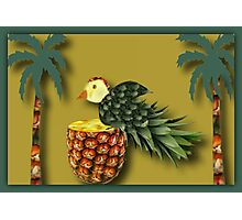 ❤ 。◕‿◕。 MY DESIGNED PINEAPPLE BIRD AND PALM TREES❤ 。◕‿◕。  Photographic Print
