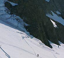 Climbers on Tasman Glacier by GaryMcKiernan